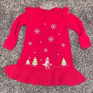 Gymboree Baby Girls Red Sweater Dress SZ.18mo.
